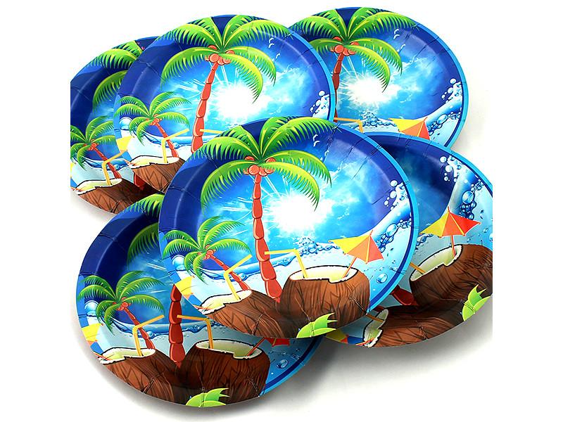 Одноразовые тарелки Эврика N 21 Пальма 190mm 6шт 96966