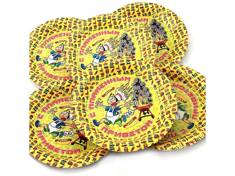Одноразовые тарелки Эврика N 20 С пламенным приветом 190mm 6шт 96965