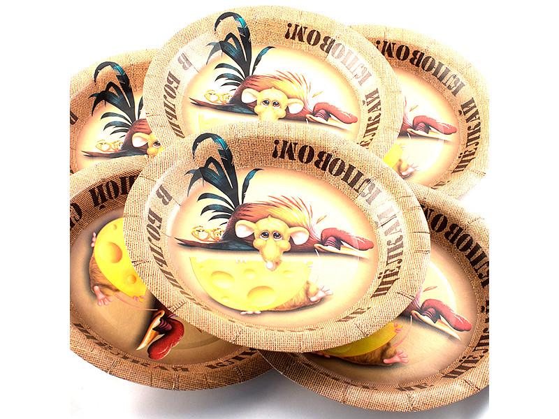 Одноразовые тарелки Эврика N 2 В большой семье 190mm 6шт 96936