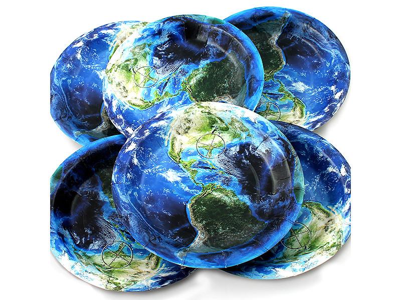 Одноразовые тарелки Эврика N 17 Земля 190mm 6шт 96962