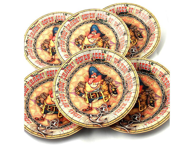 Одноразовые тарелки Эврика N 14 Семь футов 190mm 6шт 96959