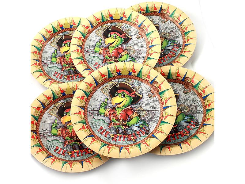 Одноразовые тарелки Эврика N 13 Так держать 190mm 6шт 96958