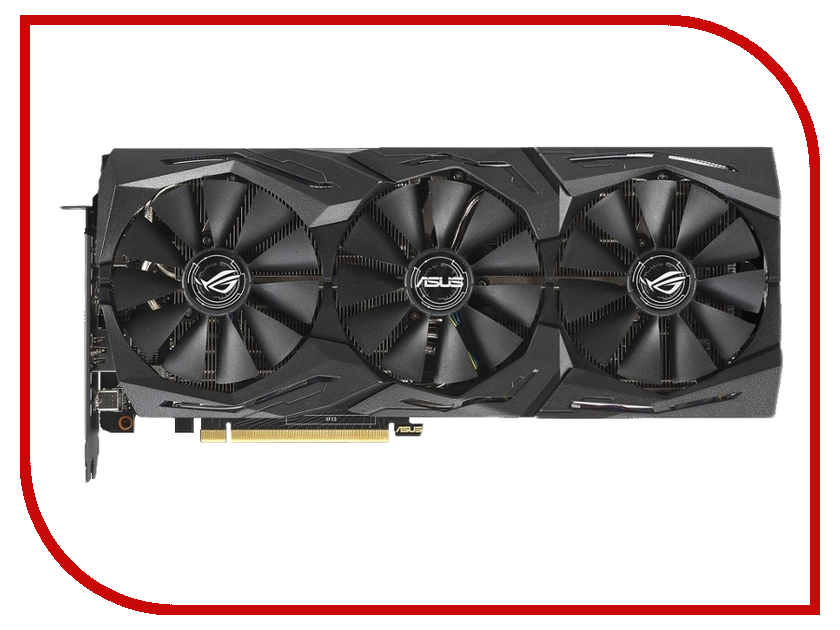 Видеокарта ASUS GeForce RTX 2060 1365Mhz PCI-E 3.0 6144Mb 14000Mhz 192 bit 2xDP 2xHDMI ROG-STRIX-RTX2060-O6G-GAMING e blue ems618 wired gaming mouse white
