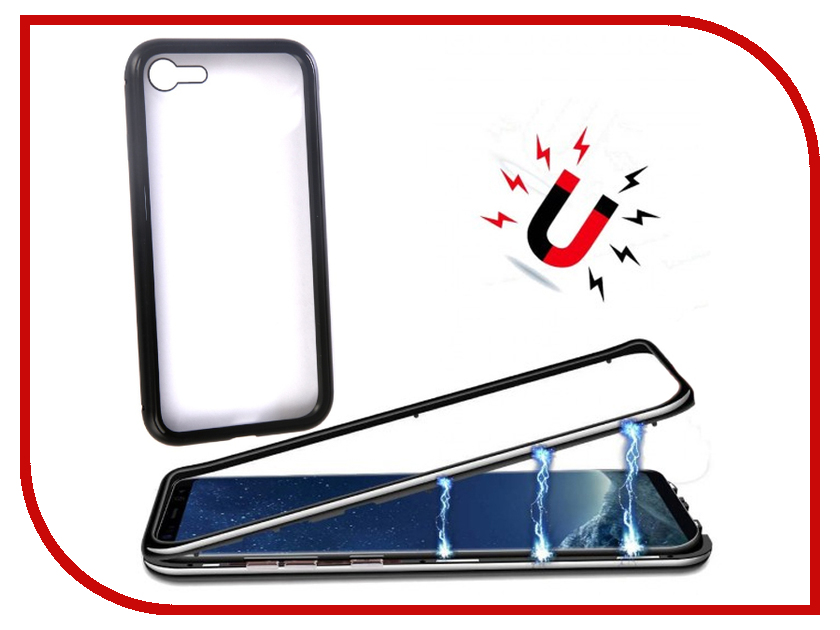 Аксессуар Чехол для APPLE iPhone 7/8 360 Strong Magnetic Black 90213 аксессуар чехол innovation jeans для apple iphone 7 8 white 10774