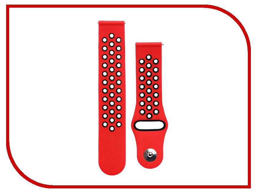 Аксессуар Ремешок для Samsung Gear Sport/Gear S2 Classic/Galaxy Watch 42mm Activ Sport N Red-Black 93116 аксессуар ремешок apple watch 42mm activ black sport band 54325