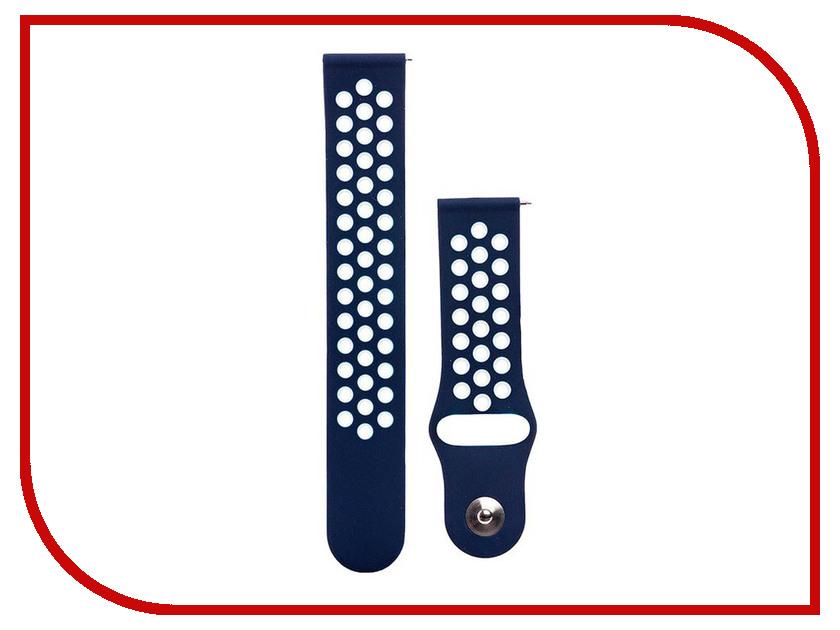 Аксессуар Ремешок для Samsung Gear Sport/Gear S2 Classic/Galaxy Watch 42mm Activ Sport N Dark Blue-Blue 93114 аксессуар ремешок apple watch 42mm activ black sport band 54325