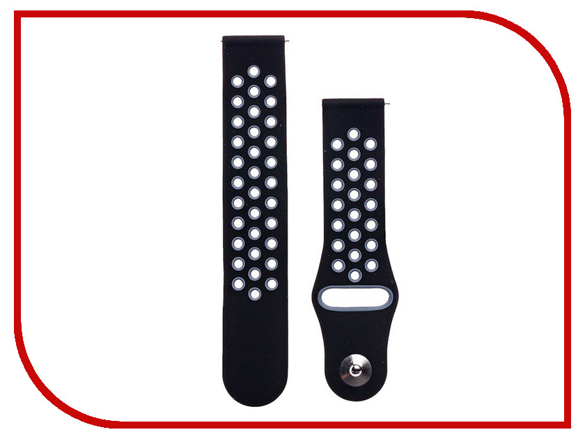 Аксессуар Ремешок для Samsung Gear Sport/Gear S2 Classic/Galaxy Watch 42mm Activ Sport N Black-Grey 93112 аксессуар ремешок apple watch 42mm activ grey smooth leather 79565