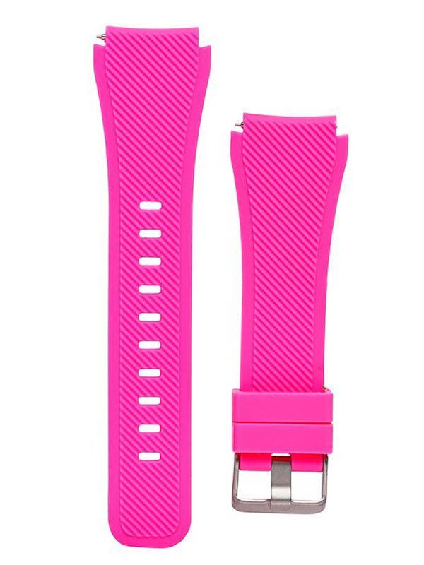 все цены на Аксессуар Ремешок для Samsung Gear S3 Frontier/Gear S3 Classic/Galaxy Watch 46mm Activ Silicone Rose 93090 онлайн