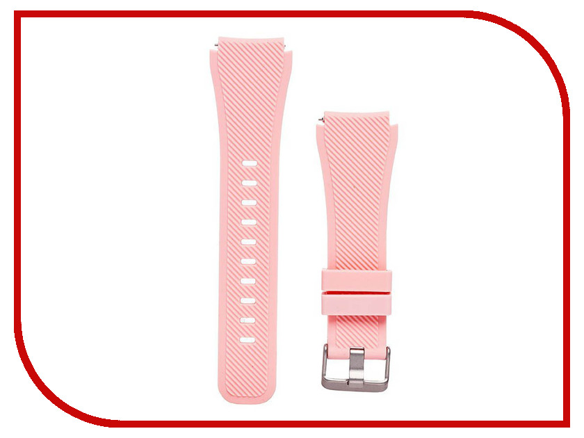 Аксессуар Ремешок для Samsung Gear S3 Frontier/Gear S3 Classic/Galaxy Watch 46mm Activ Silicone Pink 93088 22mm magnetic band loop for samsung gear s3 classic s3 frontier watch band bracelet strap stainless steel band black sliver