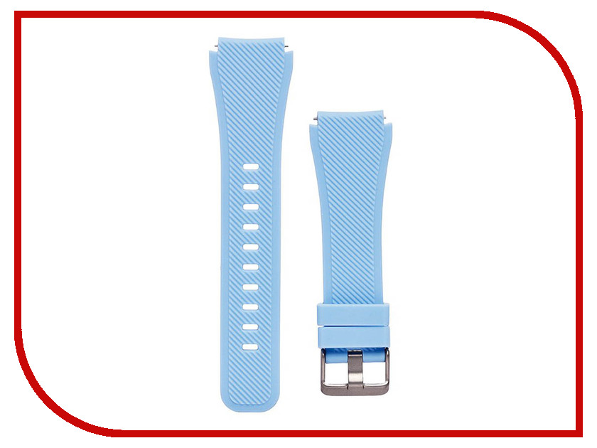 Аксессуар Ремешок для Samsung Gear S3 Frontier/Gear S3 Classic/Galaxy Watch 46mm Activ Silicone Light Blue 93086 цена 2017