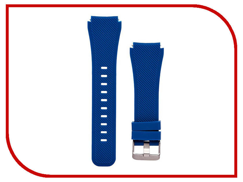 Аксессуар Ремешок для Samsung Gear S3 Frontier/Gear S3 Classic/Galaxy Watch 46mm Activ Silicone Dark Blue 93083 22mm magnetic band loop for samsung gear s3 classic s3 frontier watch band bracelet strap stainless steel band black sliver