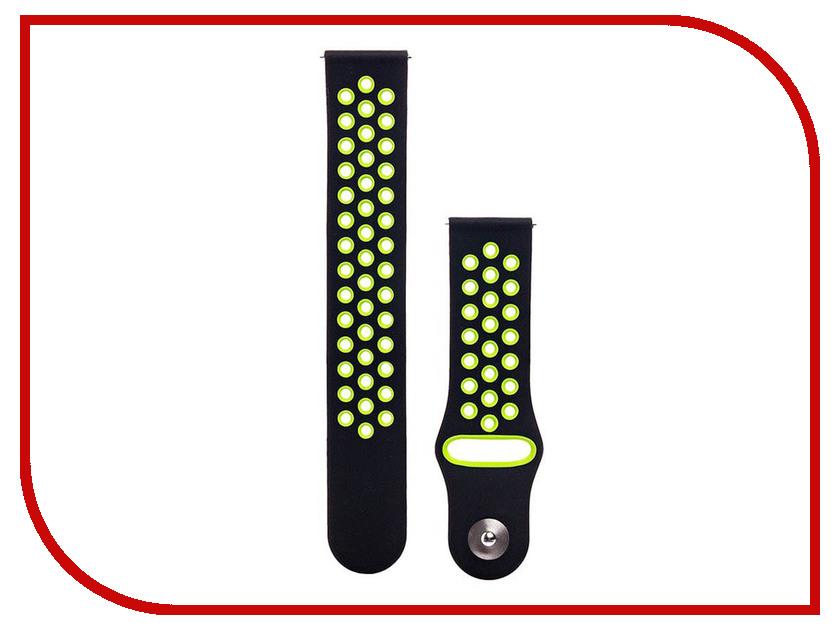 Аксессуар Ремешок для Samsung Gear S3 Frontier/  Classic/Galaxy Watch 46mm Activ Sport  Black-Green 93094