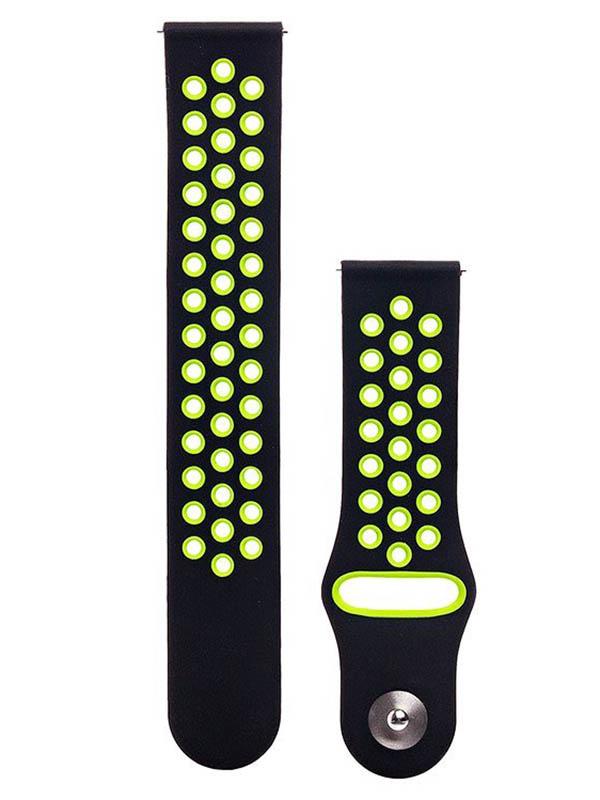 Аксессуар Ремешок для Samsung Gear S3 Frontier/Gear S3 Classic/Galaxy Watch 46mm Activ Sport N Black-Green 93094 solidsteel s3 5 black