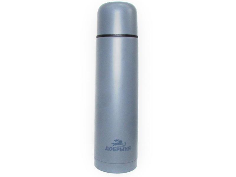Термос Добрыня DO-1837 1L Grey термос с широкой горловиной добрыня жостово