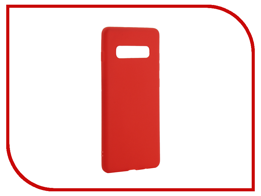 Аксессуар Чехол для Samsung Galaxy S10 Plus 2019 Zibelino Soft Matte Red ZSM-SAM-S10-PL-RED
