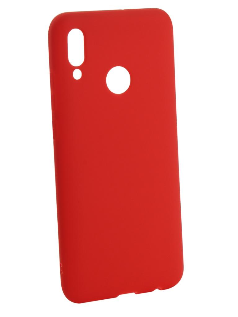 Аксессуар Чехол Zibelino для Huawei P Smart 2019 Soft Matte Red ZSM-HUA-PSM-2019-RED