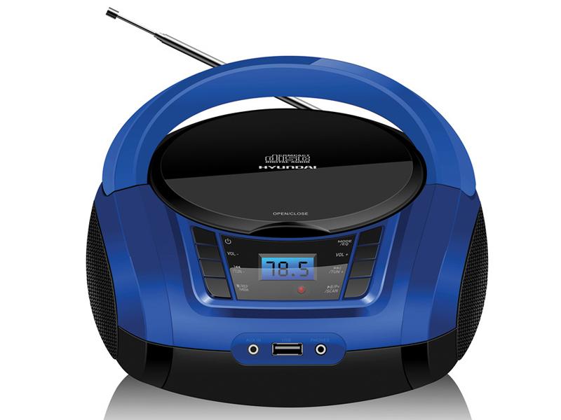 Магнитола Hyundai H-PCD340 Black-Blue