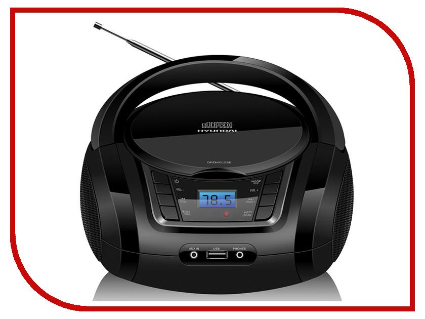Магнитола Hyundai H-PCD320 Black цена