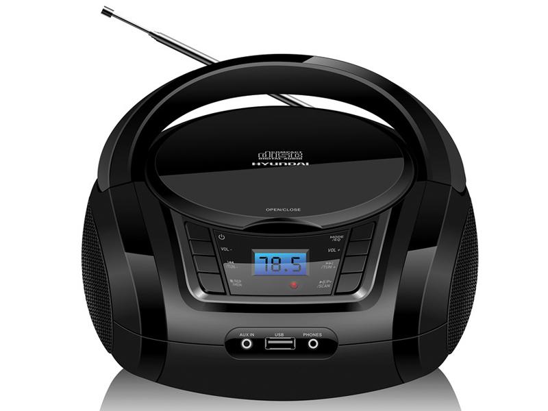 Магнитола Hyundai H-PCD320 Black