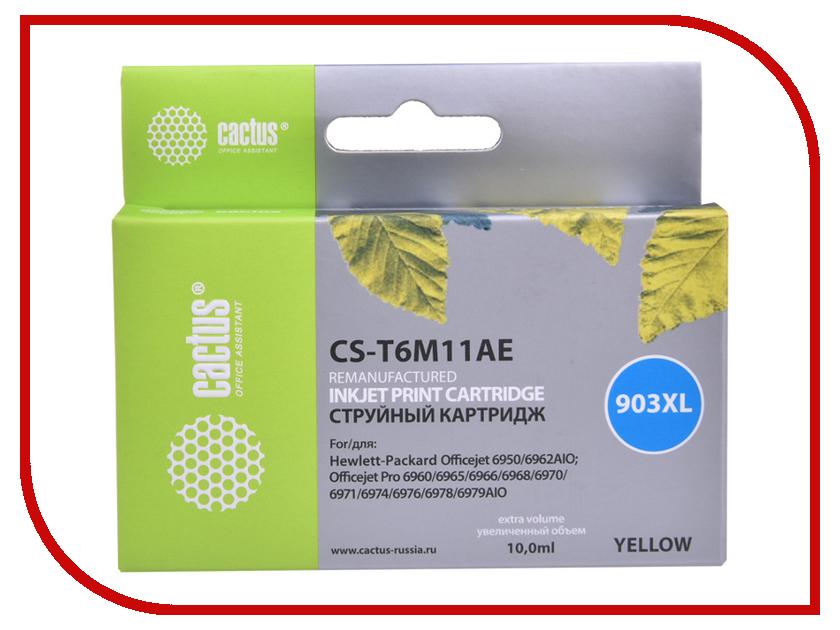 Картридж Cactus №903XL CS-T6M11AE Yellow для HP OJP 6950/6960/6970 cactus cs ph3110