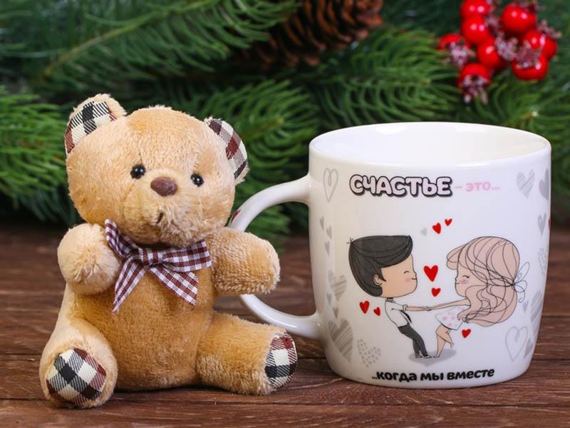Набор СИМА-ЛЕНД Счастье - кружка 250ml + игрушка 3714300