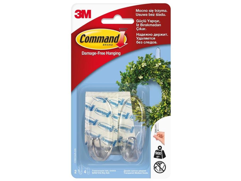 Крючки Command (2 шт) 17091CLR 740138