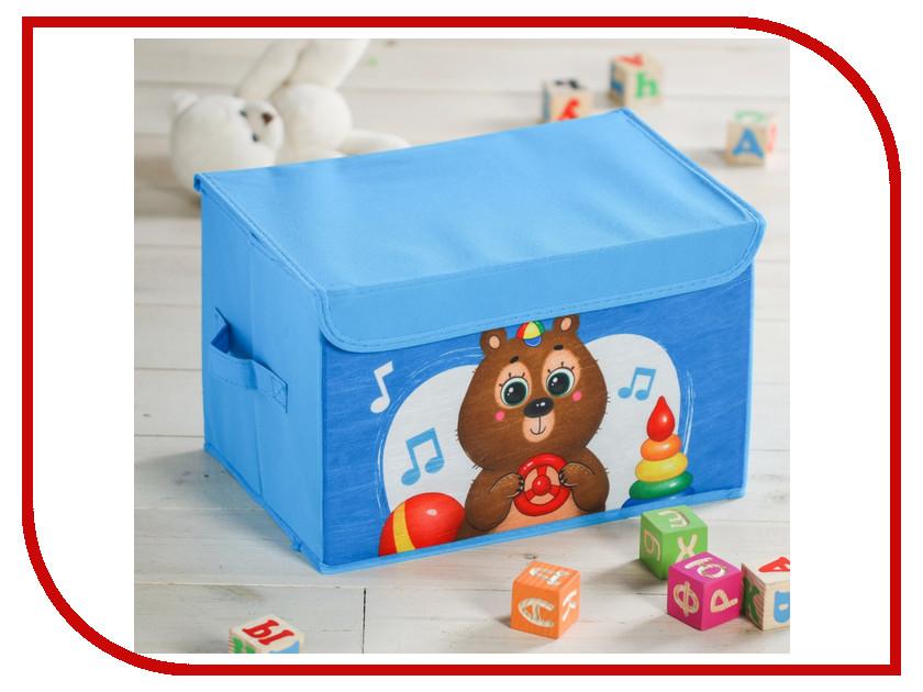 Короб для игрушек Школа талантов Мишка 3818373 набор для валяния школа талантов мишка в шапочке 6 х 12 5 см