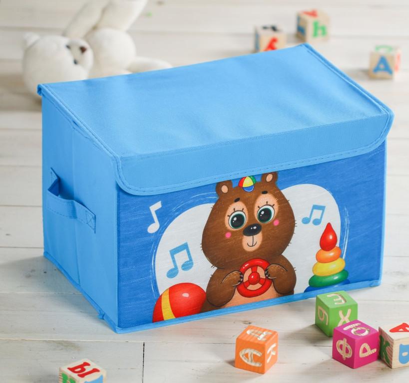 Короб для игрушек Школа талантов Мишка 3818373