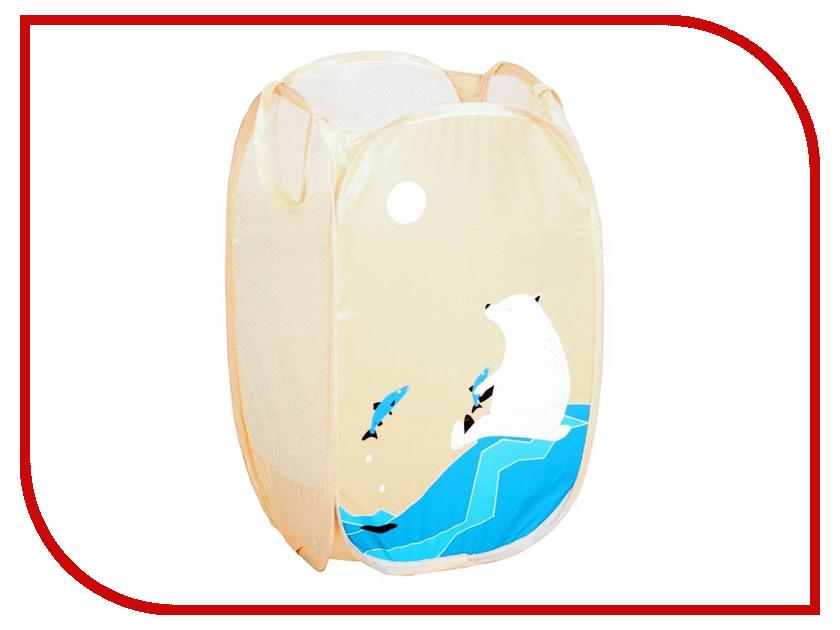 Купить Корзина для игрушек СИМА-ЛЕНД Белый медведь 2523079