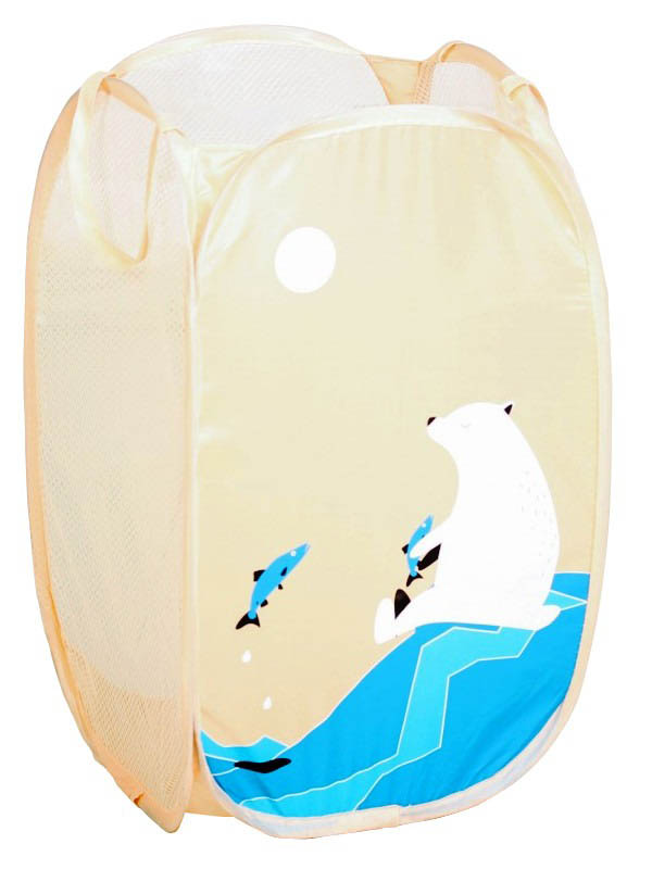 Корзина для игрушек СИМА-ЛЕНД Белый медведь 2523079