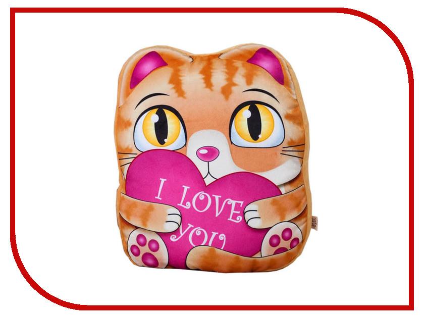 Игрушка СИМА-ЛЕНД Рыжий котик с сердцем 3251450 игрушка палатка сима ленд планета животных 334690