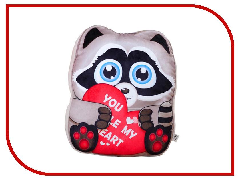 Игрушка СИМА-ЛЕНД Енотик с сердцем 3251446 игрушка палатка сима ленд планета животных 334690