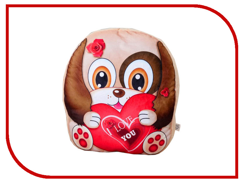 Игрушка СИМА-ЛЕНД Собачка с сердцем 3251451 игрушка антистресс сима ленд киса 2809390