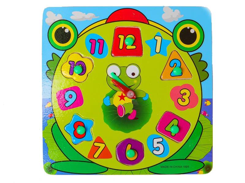 Сортер СИМА-ЛЕНД часы Лягушенок 3800780 песочные часы сима ленд башня 1100487