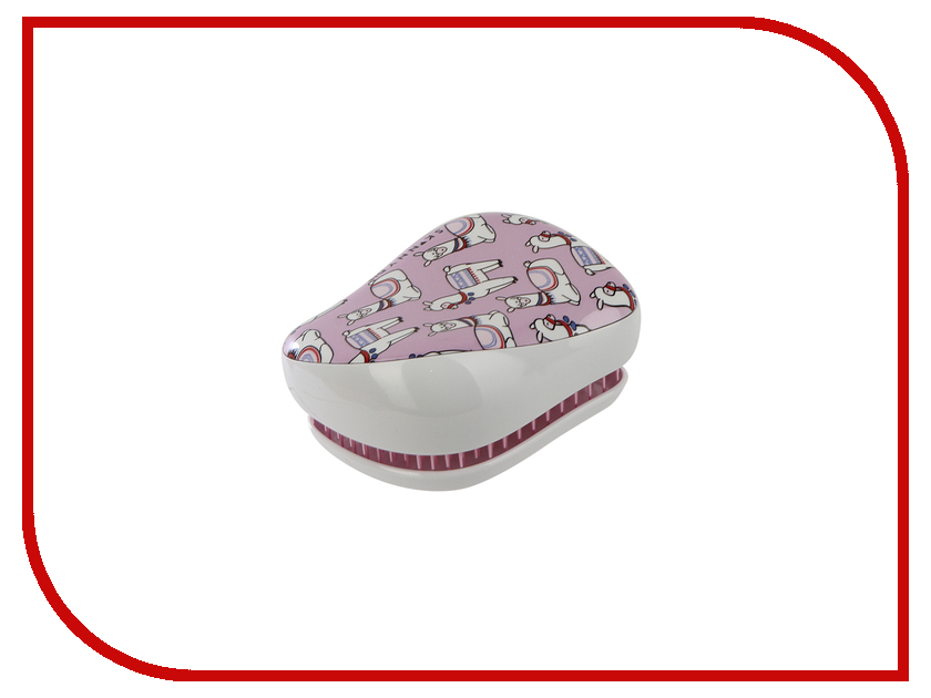 Расческа Tangle Teezer Compact Styler Lovely Llama 2161 расчески sohyo b107 расческа lovely pink фуксия