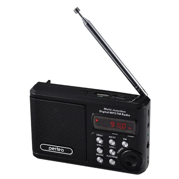 Радиоприемник Perfeo PF-SV922BK Black Выгодный набор + серт. 200Р!!!