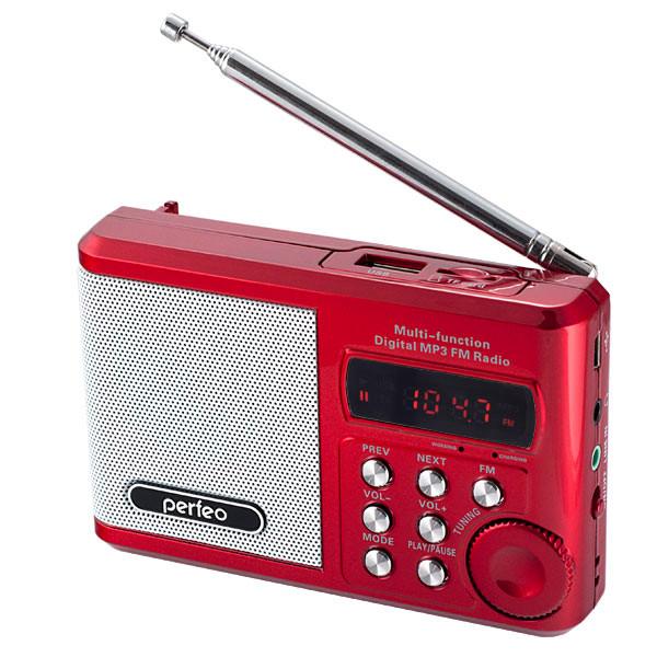 Радиоприемник Perfeo PF-SV922RED Red Выгодный набор + серт. 200Р!!!