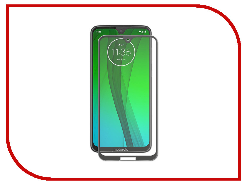 Аксессуар Защитное стекло для Motorola Moto G7 Zibelino TG 5D Black ZTG-5D-MOT-G7-BLK аксессуар защитное стекло alcatel u5 5044d zibelino tg 0 33mm 2 5d ztg alc 5044d