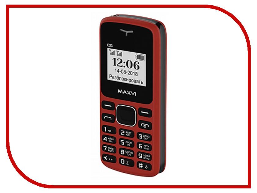 Фото - Сотовый телефон MAXVI C23 Red-Black проводной и dect телефон foreign products vtech ds6671 3