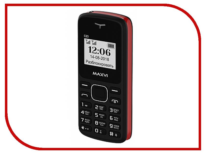 Сотовый телефон MAXVI C23 Black-Red