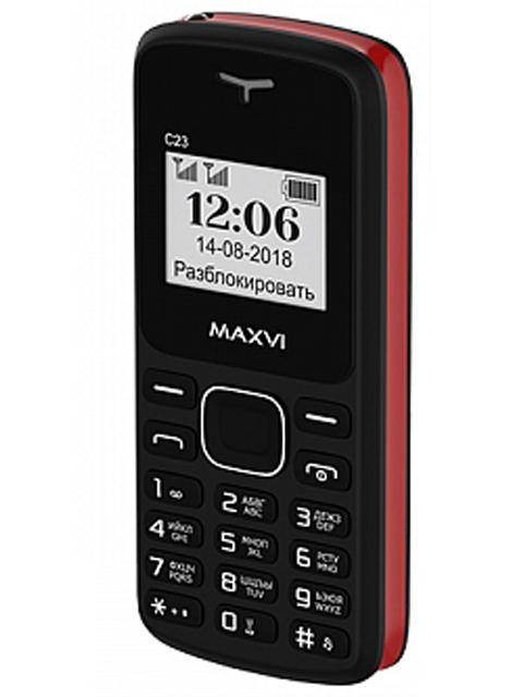 Сотовый телефон MAXVI C23 Black-Red сотовый телефон maxvi m6 silver black