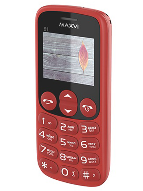 цена на Сотовый телефон MAXVI B1 Red