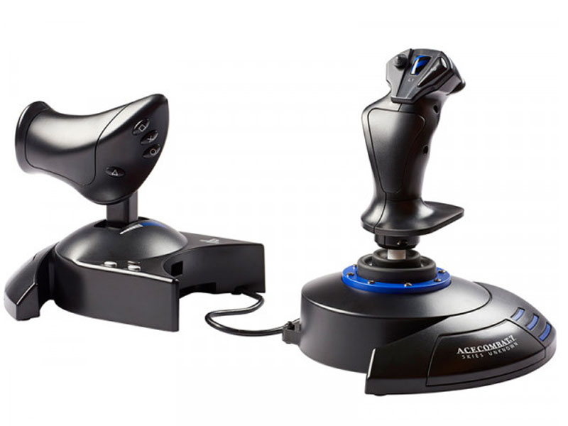 Джойстик Thrustmaster T-Flight Hotas 4 Ace Combat 7 Skies Unknown THR93 для PS4/PC thrustmaster беспроводной led дисплей для ps4