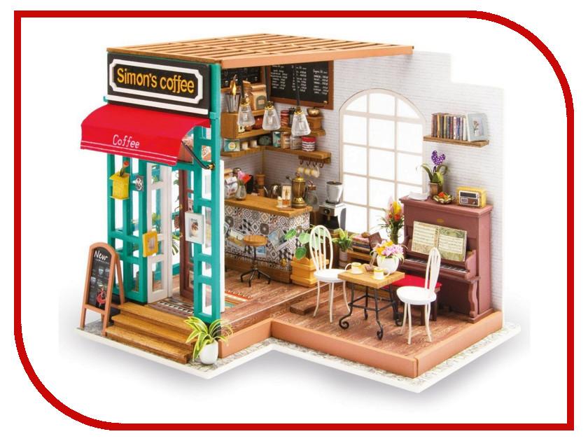 Сборная модель DIY House Кофейня DG109 9-58-010635 24th diy wooden dollhouse 3d model kit miniatures doll house large villa
