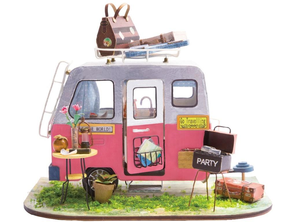 Сборная модель DIY House Домик на колесах DGM04 9-58-010639