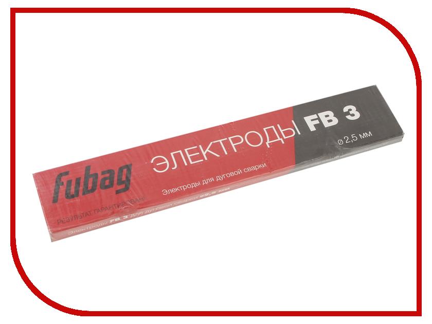 Аксессуар Электроды с рутиловым покрытием Fubag FB 3 D2.5mm пачка 900гр 38858 аксессуар газовое сопло fubag d 12 0mm 10шт fb 150 f145 0075