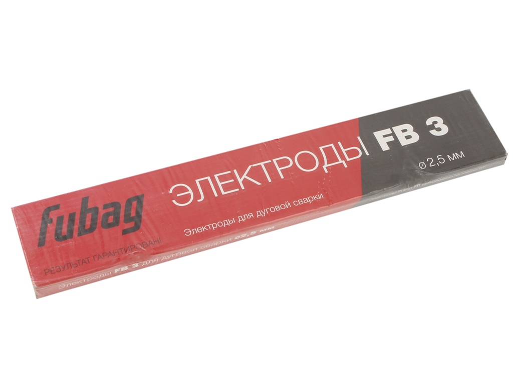 Электроды с рутиловым покрытием Fubag FB 3 D2.5mm пачка 900гр 38858