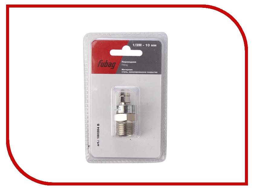 Переходник Fubag 1/2М на елочку 10mm с обжимным кольцом 10x15mm блистер 1шт 180264 B