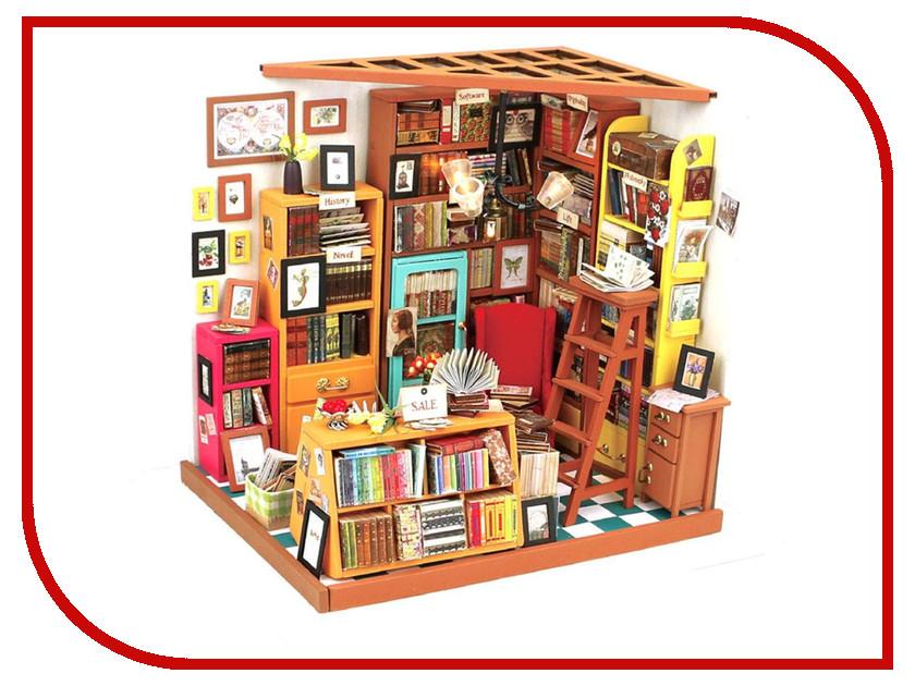 Сборная модель DIY House Библиотека DG102 9-58-010553 24th diy wooden dollhouse 3d model kit miniatures doll house large villa