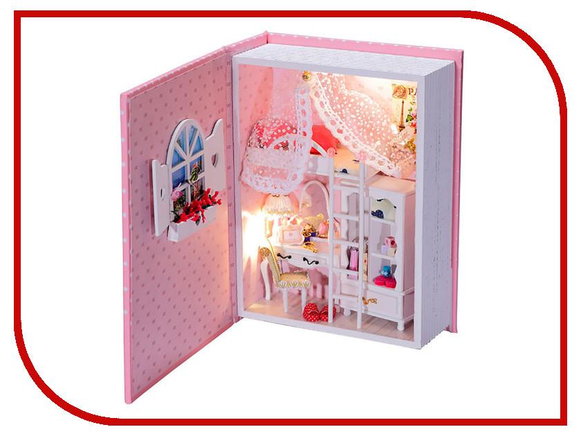 Сборная модель DIY House Розовый дневник B004 9-58-011374 24th diy wooden dollhouse 3d model kit miniatures doll house large villa